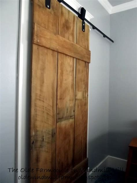 diy sliding bathroom door the olde farmhouse on windmill hill diy barn door details