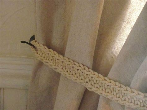 crochet curtain tie backs crochet curtain tie backs crochet curtains pinterest