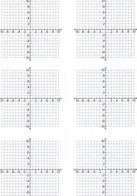 printable graph paper with 6 graphs pin printable 10x10 graph paper on pinterest
