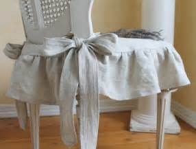 Ruffled Chair Slipcovers The Isabella Ruffled Linen Chair Slipcover With Ballerina Ties