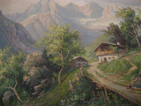 Landscape Paintings European Realism Austrian European Landscape By Listed Artist Karl