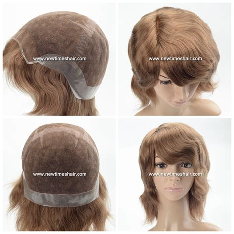 back of wigs 1601lw0007 full lace cap wig with clear skin back women s wig