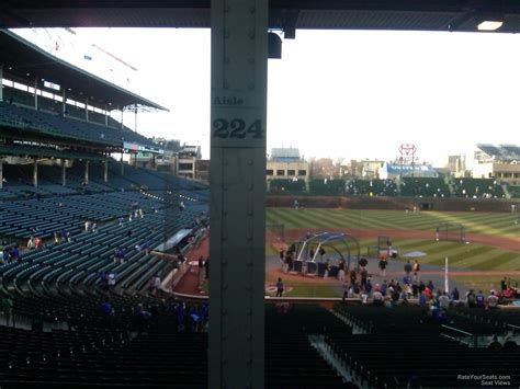 what is section 16 wrigley field section 224 chicago cubs rateyourseats com