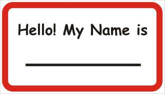 Family Feud Name Tag Template by Name Tag Gallery