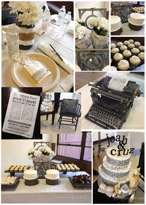 newspaper themed baby shower 222 best ideas about broadway themed parties on pinterest