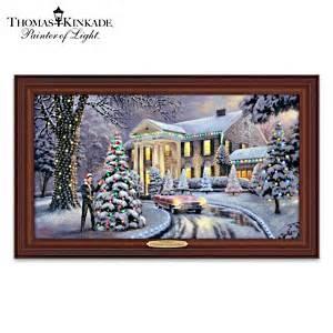 thomas kinkade christmas at elvis presleys graceland home thomas kinkade serenity prayer framed canvas print wall decor