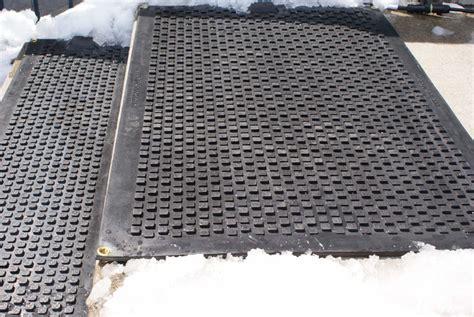 Heated Rubber Floor Mats - hotflake heated welcome mat heated snow melting floor mat