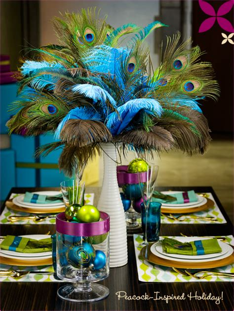 peacock decorating ideas home decor and interior design - Peacock Themed Decorations
