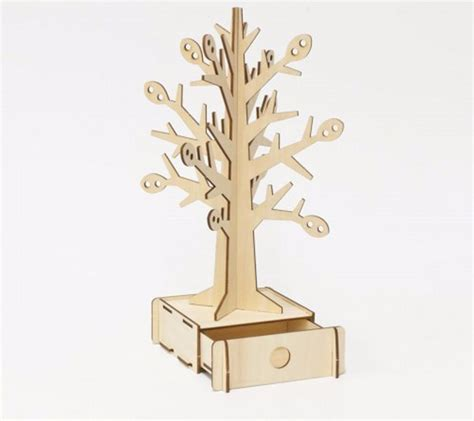 Kigumi 3d Puzzle Kayu Standing Cat Puzzle 3d ki gu mi plywood puzzle tree jewellery stand kigumi wooden 3d wooden puzzle 4892453000401 ebay