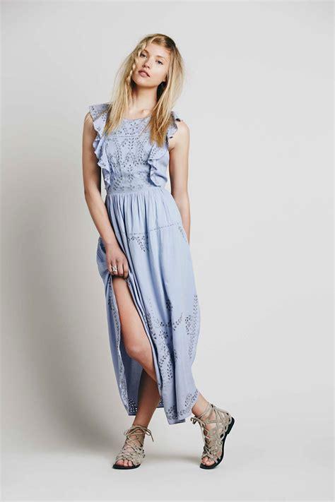 Dress Denimmaxi Dressdress Import Fashion Realpic pennylane pinafore maxi dress at free clothing boutique