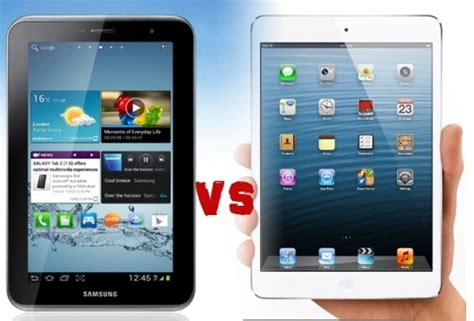 Tablet Samsung Vs apple mini vs samsung galaxy tab 2 7 0