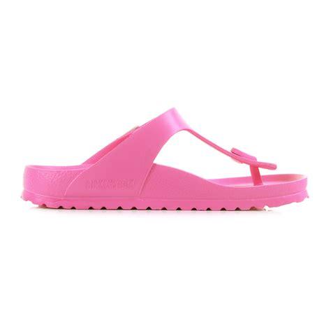 neon sandals womens birkenstock gizeh normal fit neon pink