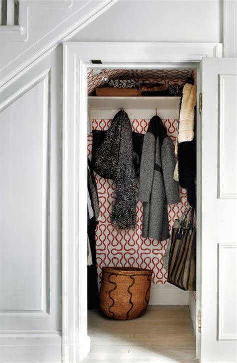 wallpaper closet entry coat closet linen closet pinterest closet