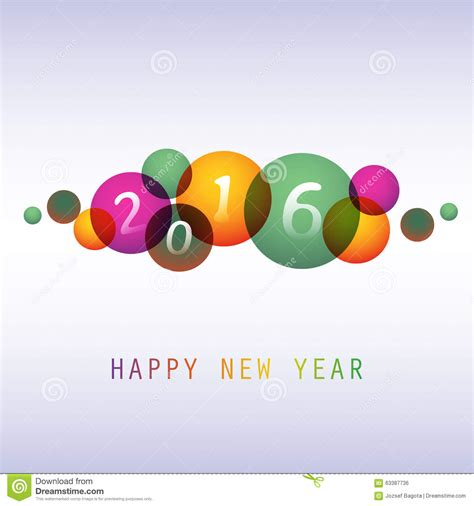 best new year card design best wishes colorful abstract modern style happy new