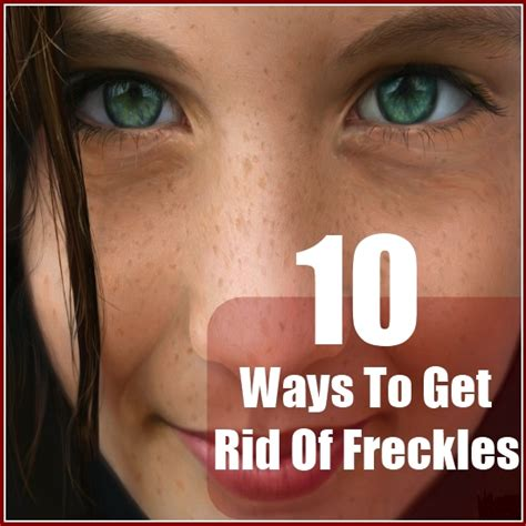 10 Ways To Get Rid Of Freckles 10 ways to get rid of freckles diy find home remedies