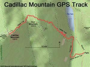 Cadillac Mountain Trail Map Hike Cadillac Mountain Me