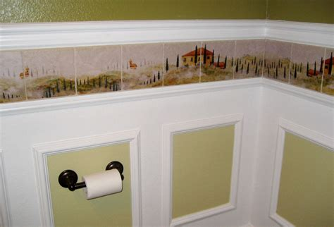 bathroom wallpaper border ideas tuscan tile murals kitchen backsplashes tuscany art tiles