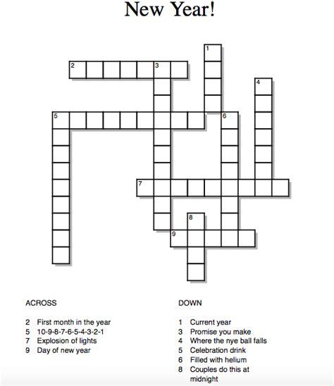 new year crossword puzzle worksheets new year crossword tewksbury tribune