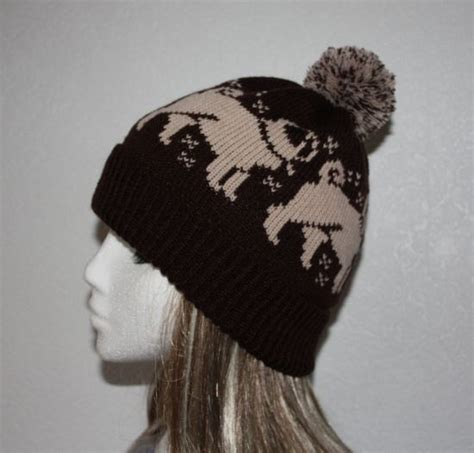 pug beanie pug dogs pompom beanie hat in a choice of colours pug brown and hats