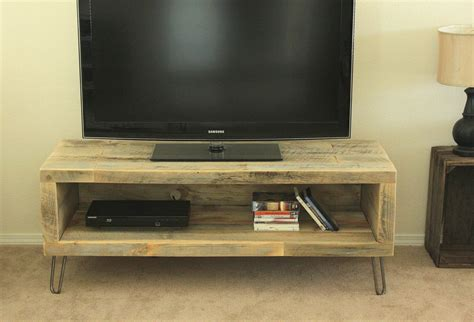 tv bench ideas reclaimed wood media console tv stand 56 long