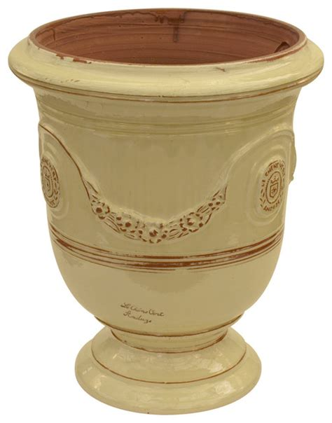 Outdoor Pottery Vases by Vase Anduze Ivory Traditional Outdoor Pots And