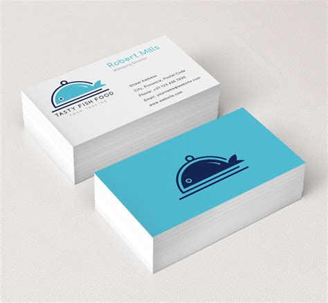 Template For Business Cards Foos by Fish Food Logo Business Card Template The Design