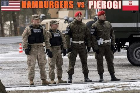 Military Police Meme - pierogi e hamburgers vs military police mp police meme