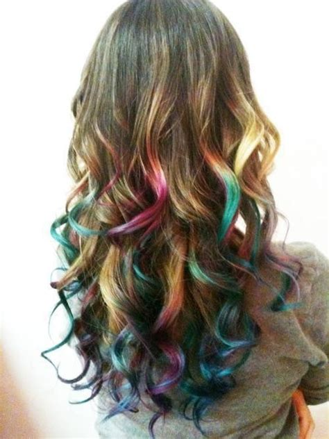 Temporary Highlights For Dark Hair That Washes Out | how to get temporary vivid highlights women hairstyles