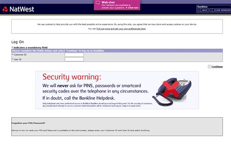 reset online banking natwest forgotten credit card pin number natwest infocard co