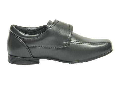 new infant toddler boys black formal wedding school shoes