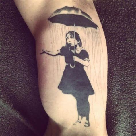 tattoo girl umbrella banksy umbrella girl best tattoo design ideas