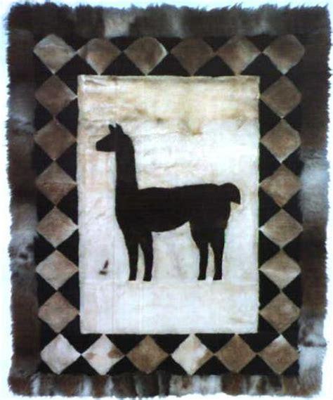 llama skin rug andean crafts