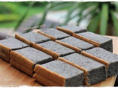 Ogura Ketan Hitam resep ogura cake ketan hitam malaysian cottoncake
