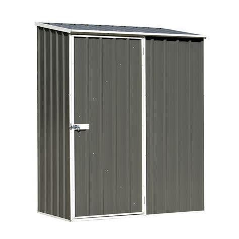 absco sheds 1 52 x 0 78m woodland grey single door space