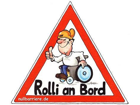 Auto Aufkleber Rollstuhlfahrer auto behindertenfahrzeug rolli an bord rollstuhlfahrer