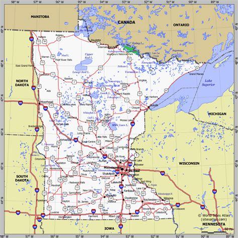road map of minnesota usa подробная карта миннесоты planetolog ru