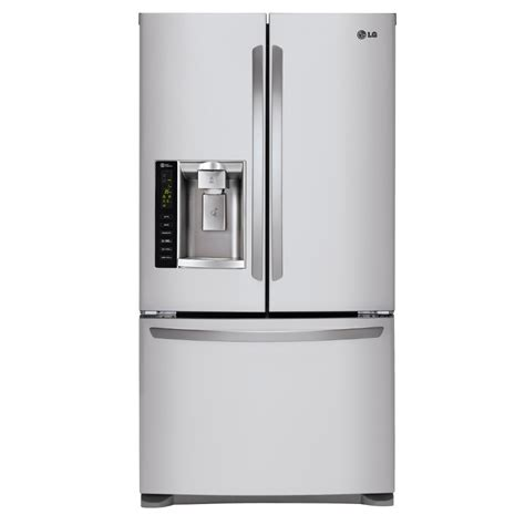 shop lg 24 1 cu ft door refrigerator with dual - Door Fridge With Maker