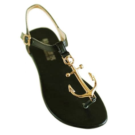 anchor sandals stylish women s anchor sandals with flip flop and metal
