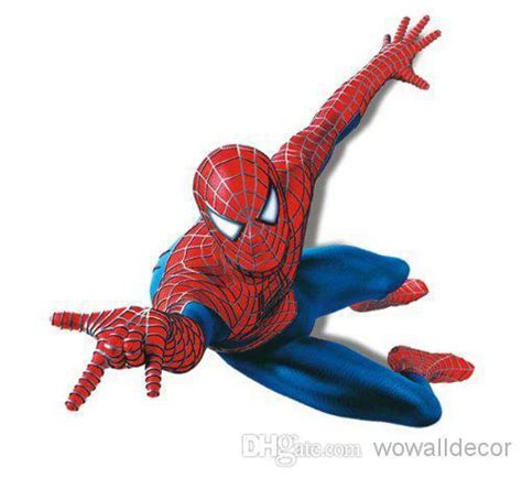 Marvel Superhero Wall Stickers large pvc cartoon spiderman baby wall stickers for kids