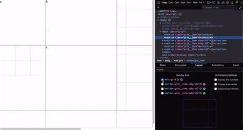 css layout debugger debugging css grid layouts with firefox grid inspector