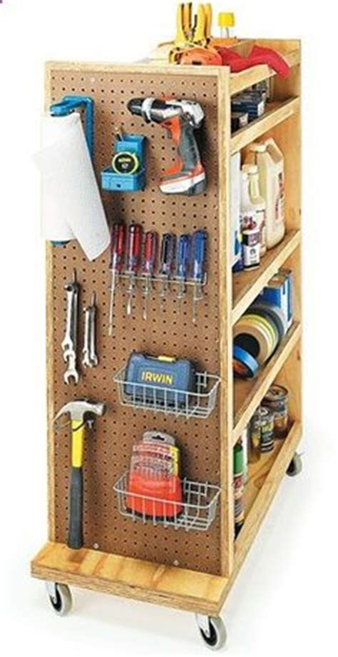 Garage Caddy by Rolling Garage Cart With Shelves Hooks Pegboard Great