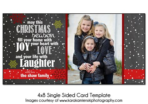 free 4x8 photo card templates card template joyful snow 4x8 single sided card