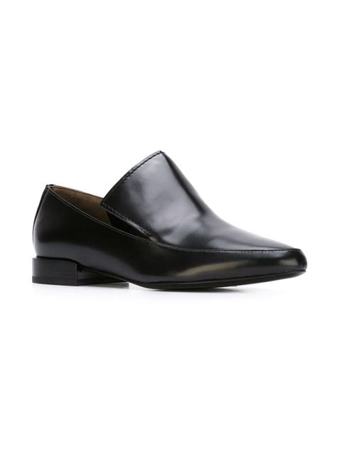 louie loafers 3 1 phillip lim louie leather loafers in black lyst