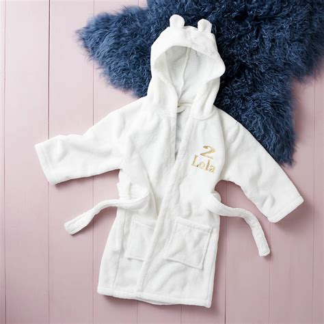 Special Edition Fleecy Scrub Original limited edition gold hooded fleece dressing gown by my 1st years notonthehighstreet