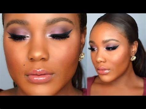 eyeshadow tutorial black girl glam holiday makeup tutorial 2015 cranberry smokey eye