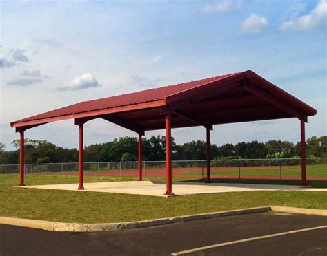 Metall Pavillon by Steel I Beam Single Roof Rectangle Pavilions