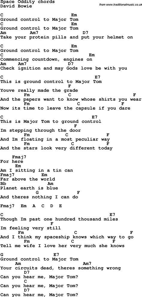 despair pattern life lyrics lyrics with guitar chords for space oddity chords for