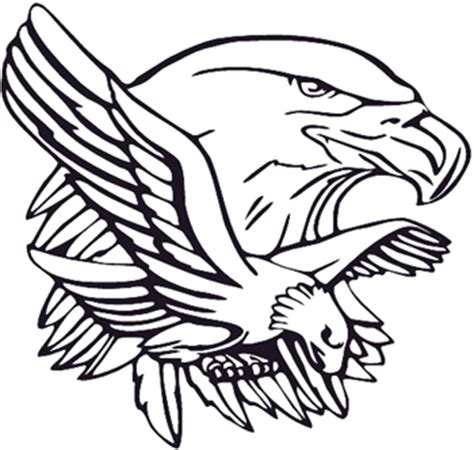 eagle mascot coloring pages design your own decal popular decals eagle head and