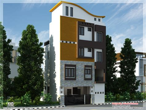 3 floor house front elevation of small houses smart home designs and