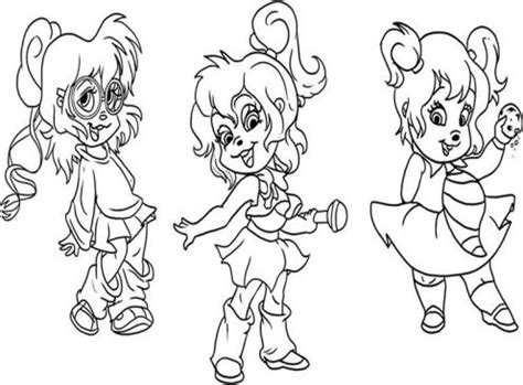 Chipettes Coloring Pages Coloring Pages To Print Chipettes Coloring Pages